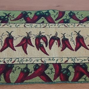 chili pepper woven table runner 50 in long, 12 in